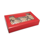 Red Grease Resistant Cookie Boxes