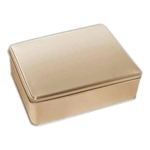 "8"" x 10"" Gold Tin Boxes"