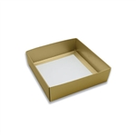 Box Bases - 8 oz. Gold Square 1 Layer Deep