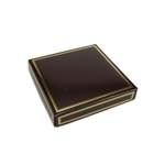 Chocolate Box Covers-8 oz.- Brown with Gold Trim
