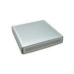 Chocolate Box Covers-8 oz.- Silver with Silver Trim