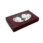 1/2 lb. Box Covers-1 Layer-Oval Window Burgundy