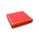 Chocolate Box Covers-8 oz.- Red with Gold Trim