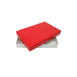 1 lb. Rigid Set Up Boxes-Cover & Base Sets-Red