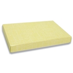 1 lb. Box Covers-1 Layer-Yellow Linen