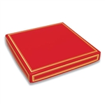 16 oz. Square Red with Gold Candy Box Covers
