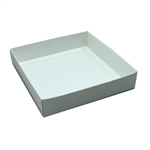 16 oz. Square White Deep Chocolate Box Bases