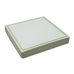 16 oz. Square White with Gold Candy Box Covers