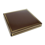 16 oz. Square Brown with Gold Candy Box Covers