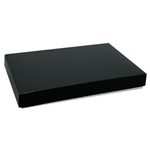 Chocolate Box Covers-1 lb. Rectangle-1 Layer- Black