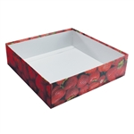 Candy Box Bases - 32 oz.-2 Layer -  Strawberry