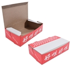"6-1/4"" x 3-3/4"" x 1-3/4"" #3 Chinese Take Out Boxes"