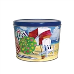 Two Gallon Popcorn Tin Pail - Beach Time