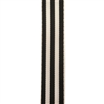 Carnival Candy Stripes Black Grosgrain