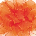 Offray Wire Edge Encore Ribbon - 750 Torrid Orange