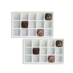 1/2 lb. plastic tray-15 cavities-assorted