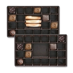1 lb. Plastic Tray 21 cavities, assorted chocolate