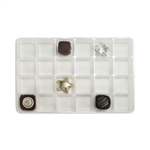 1-1/2 lb. Plastic Tray 24 cavities - Advent Tray