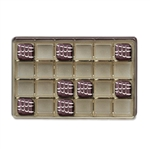 1-1/2 lb. Advent calendar Tray Gold
