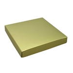 16 oz. Square Gold Chocolate Box Covers