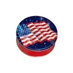 "6-11/16"" Round American Fireworks Tins"
