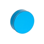 "6-11/16"" Round Bright Blue Tins"