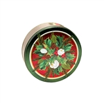 "6-11/16"" Round Christmas Bouquet Tins"