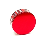 "6-11/16"" Round Classic Stripes Tins"