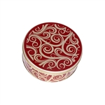 "6-11/16"" Round Golden Swirls Tins"