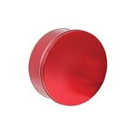 "6-11/16"" Round Sweet Red Tins"