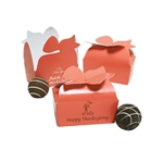 Small Coral Bow Favor Boxes
