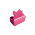 Small Raspberry Bow Favor Boxes