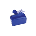 Small Royal Blue Bow Favor Boxes