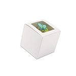 "4"" x 4"" x 4"" White Cupcake Boxes with Square Window"