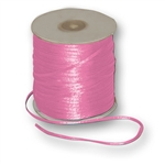 "Offray Dainty Double Face Satin Ribbon Hot Pink, 1/8"" x 30 Yards"