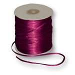 "Offray Dainty Double Face Satin Ribbon Wine - 1/8"" x 30 Yards"