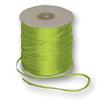 "Offray Dainty Double Face Satin Ribbon New Chartreuse - 1/8"" x 30 Yards"