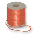 "Offray Dainty Double Face Satin Ribbon Torrid Orange - 1/8"" x 30 Yards"