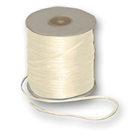 "Offray Dainty Double Face Satin Ribbon Antique Ivory - 1/16"" x 50 Yards, or 1/8"" x 30 or 500 Yards"