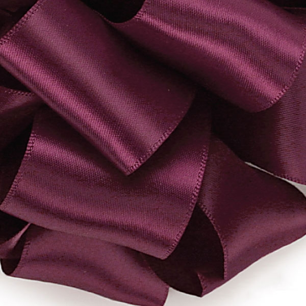Offray Double Face Satin Ribbon 275 Wine