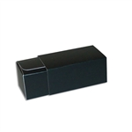 2 Truffle Candy Boxes in Black with Black Sleeves