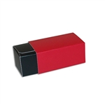 2 Truffle Candy Boxes in Black with Red Sleeves