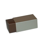 2 Truffle Candy Boxes in Brown with Champagne Sleeves