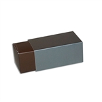 2 Truffle Candy Boxes in Brown with Pewter Sleeves