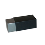 2 Truffle Candy Boxes in Pewter with Black Sleeves