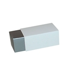 2 Truffle Candy Boxes in Pewter with White Sleeves