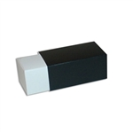 2 Truffle Candy Boxes in White with Black Sleeves