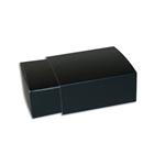 4 Truffle Candy Boxes in Black with Black Sleeves