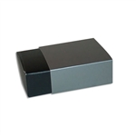 4 Truffle Candy Boxes in Black with Pewter Sleeves