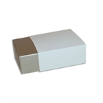 4 Truffle Candy Boxes in Champagne with White Sleeves